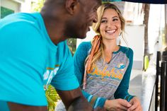 Pull on your favorite #NFLFanStyle team shirt, and you'll be all smiles too.