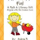 Autumn is around the corner!  This math and literacy unit is a great way to incorporate some fun activities into your classroom to help Autumn roll in!