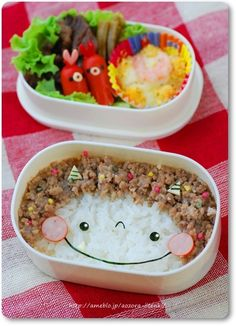 I don't know what that brown stuff is, but I could use tuna to make a hedgehog bento!