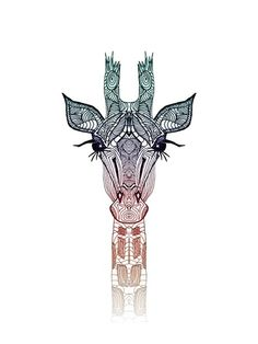 "GiRAFFE by M✿nika Strigel Art Print / MINI (8"" x 10"")  $19.00...tattoo ideas"