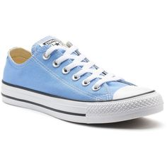 Adult Converse All Star Chuck Taylor Sneakers ($55) ❤ liked on Polyvore featuring shoes, sneakers, light blue, converse shoes, canvas sneakers, converse footwear, unisex shoes and converse trainers