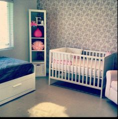 Wallcovering, nursery, babygirl, villaromo