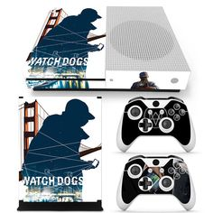 Xbox One S Console Skin Decal Sticker Watch Dogs 2 + Controllers Skins Set  #ZoomHit