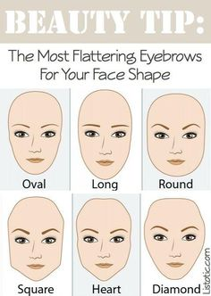 The Most Flattering Eyebrows For Your Face Shape!   #beauty #eyebrows #women