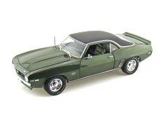 1969 Baldwin Motion Camaro SS 1/18 Fathom Green Diecast Model Car (Highway 61)