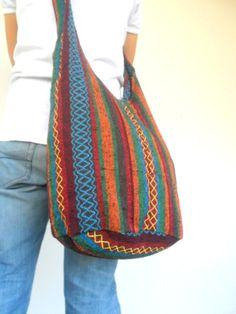 Shoulder Bag Sling Thai Hippie Hobo Nepal Multicolor Bag Hobo Crossbody Bag Hppie Boho bohemian bag Purse Multi Color Sling bag by Avivahandmade on Etsy