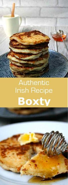 This Irish pancake called boxty is still prepared and eaten for various holidays, such as Feast of Brigid and is native to the Celtic countries. Scottish Recipes, Irish Recipes, Irish Meals, Spanish Recipes, Irish Breakfast, Breakfast Recipes, Breakfast Ideas, Beignets, Breakfast