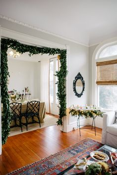 Garland around the Doorway #christmas