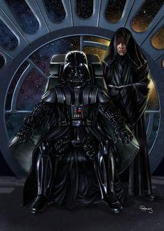 Darth Vader & Sith Luke Skywalker - Star Wars - Lawrence Reynolds In an alternative universe. Star Wars Fan Art, Star Wars Saga, Star Wars Darth, Star Trek, Star Wars Luke Skywalker, Anakin Skywalker, Luke Skywalker Dark Side, Sith Lord, Jedi Sith