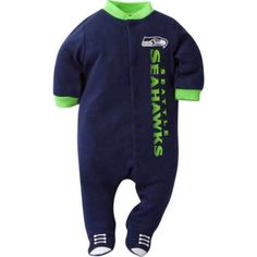 Seattle Seahawks Baby Winter Outfit size 3-6 Months boy 12th man PJ clothes