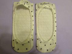 Footies/Sheer Socks, White With Black Polka Dot Sheer Socks For Flat Shoes.  Selling on eBay.