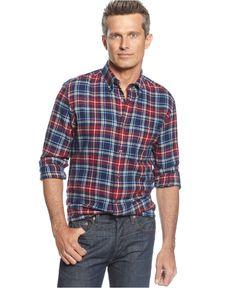 003720f6 John Ashford Long-Sleeve Plaid Flannel Shirt & Reviews - Casual Button-Down  Shirts - Men - Macy's
