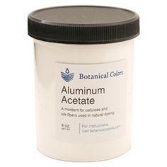 Aluminum Acetate is used for mordanting primarily cellulose and bast fibers