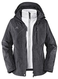 VAUDE Women's Glencoe 3in1 Jacket steelgrey (Size: 34) by VAUDE. $259.99. Jacket-category: Double jacket. Jacket-waterproof ✔. Season-season: Winter. Jacket-Type: winter coat. Jacket-Coating: Outer Layer water protection. Jacket:category: Double jacketType: winter coatCoating: Outer Layer water protectionwaterproof: yeswindproof: yesSeason:season: WinterMaterial:Membrane Type: inbuilt membranePressure Head: 15000 mmOver Fabric: Outer jacket: 73% polyamide, 27% po...