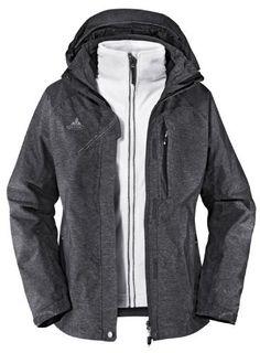 VAUDE Women's Glencoe 3in1 Jacket steelgrey (Size: 34) by VAUDE. $259.99. Jacket-category: Double jacket. Jacket-waterproof ✔. Season-season: Winter. Jacket-Type: winter coat. Jacket-Coating: Outer Layer water protection. Jacket:category: Double jacketType: winter coatCoating: Outer Layer water protectionwaterproof: yeswindproof: yesSeason:season: WinterMaterial:Membrane Type: inbuilt membranePressure Head: 15000 mmOver Fabric: Outer jacket: 73% polyamide, 27% po...