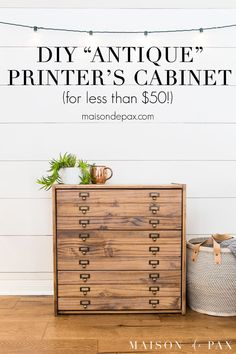 Make a DIY antique printer's cabinet from a real wood IKEA dresser for less than. - Ikea DIY - The best IKEA hacks all in one place Furniture Projects, Furniture Makeover, Diy Furniture, Ikea Dresser Makeover, Diy Projects, Kitchen Furniture, Ikea Pine Dresser, Ikea Hack Nightstand, Simple Furniture