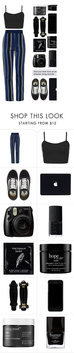 """eazy"" by moonlightbaeex ❤ liked on Polyvore featuring Proenza Schouler, Topshop, Vans, Fujifilm, NARS Cosmetics, TokyoMilk, philosophy, Dolce&Gabbana, Living Proof and Jack Black"
