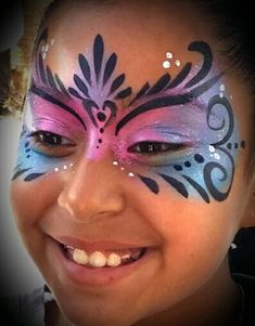 Face Painting: (book your next event!) for Sale in Industry, CA – Body Art Princess Face Painting, Girl Face Painting, Face Painting Designs, Painting For Kids, Paint Designs, Face Paintings, Face Painting Butterfly Easy, Easy Face Painting, Painting Tutorials