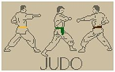Borduurpatroon Hobby & Sport Kruissteek *Cross Stitch Pattern  ~Judo~