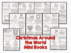 Christmas Around the World- diversity activities with a FREEBIE included Christmas Worksheets, Christmas Activities For Kids, Preschool Christmas, Christmas Facts, Christmas Ideas, Black Christmas, Christmas Door, Merry Christmas, Classroom Activities