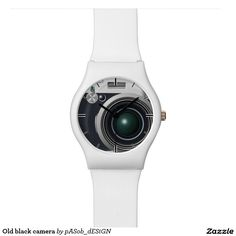 Old #black #camera #wristwatch on #Zazzle