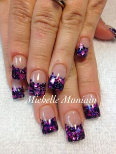 Pretty purple glittery star tips...love!!