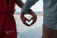 Couple hand heart posing on beach, Photography by Roxann Morin Beach Photography, Couple Photography, Portrait Photography, Hand Heart, Heart Hands, Couple Hands, Photoshoot Ideas, Holding Hands, Poses