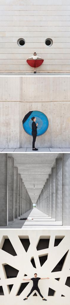 Architecturally-Inspired Self-Portraits by Photography Duo Daniel Rueda and Anna Devís