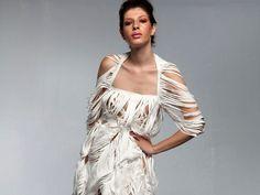 "Dresses «Rhyth of Paper» of Tyvek: «Summer-Fall"""