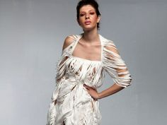 Dresses «Rhyth of Paper» of Tyvek: «Summer-Fall""