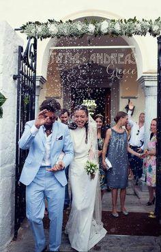 Tatia Pilieva wore our Stone Fox Bride griege and lace trim comb veil. www.stonefoxbride.com