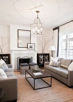 Cozy Living Room Warm Beige And Whites Paint Color