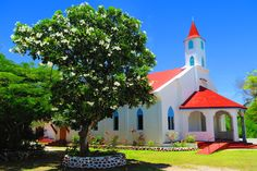 The Catholic church in Rotoava Village - Fakarava Atoll