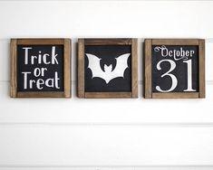 Set of 3 Halloween Signs Halloween Decor Fall Decor