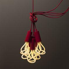 "Skulpturale Energiesparlampe ""Plumen"" von Hulger & Samuel Wilkinson"