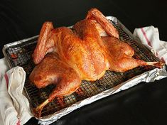 Crisp-Skinned Butterflied Roast Turkey with Gravy LC: great recipe for smaller turkey, quick and good.