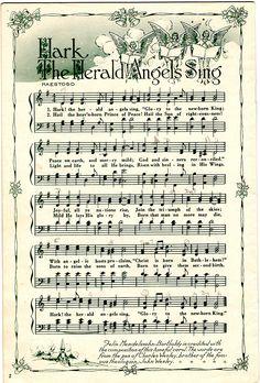 Hark the herald angels sing song sheet