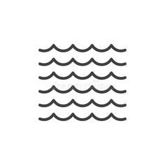 Sea waves line icon, outline vector sign, linear style pictogram. Waves Logo, Logo Illustration, Line Tattoos, Sea Logo, Waves Icon, Water Symbol, Line Icon, Wave Illustration, Abstract Waves
