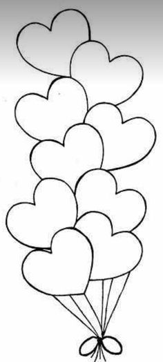 Coronary heart Balloons - Free Coloring Pages Free freebie printable dig ., How To Organize An Unforgettable valentines Day Cards-Themed Party Valentine's Day cards ar, Applique Templates, Applique Patterns, Applique Designs, Embroidery Designs, Owl Templates, Felt Patterns, Heart Balloons, Coloring Book Pages, Coloring Pages For Kids