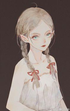 how to draw feather Anime Art Girl, Manga Art, Manga Anime, Pretty Art, Cute Art, Anime Fantasy, Fantasy Art, Character Art, Character Design