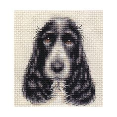 COCKER SPANIEL dog ~ Full counted cross stitch kit cross stitch kit by Fido Stitch Studio