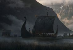 Sneaking in another artwork in the Norse inspired series I'm creating Einar Martinsen Viking Art, Viking Ship, Vikings, Scenery Pictures, 17th Century Art, Tumblr, Luxor Egypt, Fantasy Landscape, Future City