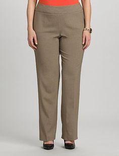 roz&ALI Plus Size Secret Agent Trouser Pants