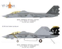 Northrop F-23A EMD Proposal. F-23 production variant. Northrop NATF-23.