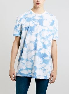 Topman Blue Clouds Skater Fit Oversized T Shirt | Nuji
