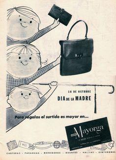 Cueros MAYORGA. Publicidad para el Día de la Madre, década del 60.