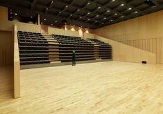 Proyectos, Salas Polivalentes, L´Atlàntida, Centre d´Arts Escèniques, sala polivalente Imagen 3 Auditorium Design, Auditorium Seating, Set Design Theatre, Hall Design, Architectural Design Studio, Architecture Design, Multipurpose Hall, Create Your Own World, Function Hall