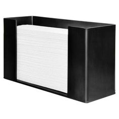 Acrylic Paper Towel Dispenser In Black