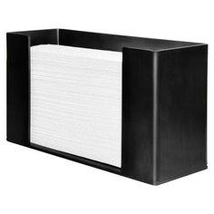 Genuine Joe 6.8 in. x 11.5 in. x 4.1 in. Acrylic Paper Towel Dispenser in Black-GJO11524 - The Home Depot