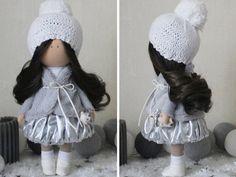 Winter doll Interior doll Fabric doll Tilda por AnnKirillartPlace